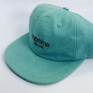 Supreme Napped Canvas Classic 6 Panel Teal Hat